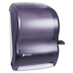 San Jamar Lever Roll Towel Dispenser, Classic, Black Pearl, 12 15/16 x 9 1/4 x 16 1/2