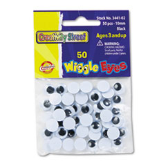 Creativity Street Round Black Wiggle Eyes, 10mm, Black, 50/Pack