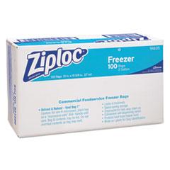 Ziploc Commercial Resealable Freezer Bag, Zipper, 2gal, 13 x 15 1/2, Clear, 100/Carton