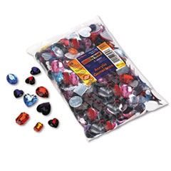 Chenille Kraft Gemstones Classroom Pack, Acrylic, 1 lbs., Assorted Colors/Sizes