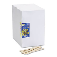 Chenille Kraft Natural Wood Craft Sticks, 4 1/2 x 3/8, Wood, Natural, 1000/Box