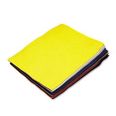 Chenille Kraft Felt Sheet Pack, Rectangular, 9 x 12, Assorted Colors, 12/Pack
