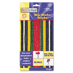Creativity Street Wax Works Strips, Bright Hues Colors, 48 Pieces