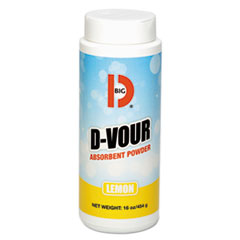 Big D Industries SORBENT DVOUR LEMON 6-1LB D-Vour Absorbent Powder, Canister, Lemon, 16oz, 6-carton