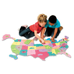 Creativity Street Wonderfoam Giant U.S.A Puzzle Map, 73 Pieces