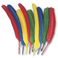 Creativity Street Quill Feathers, Assorted Colors, 24 Feathers/Pack