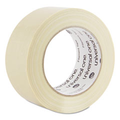 Universal One Premium-Grade Filament Tape w/Natural Rubber Adhesive, 48mm x 54.8m, Clear