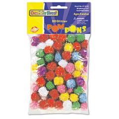 Creativity Street Glitter Pompons, 1/2