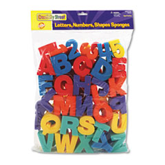 Chenille Kraft 60-Piece Mixed Sponge Set, 3 High Letters/Numbers/Shapes