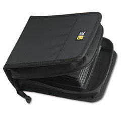 Case Logic CD/DVD Wallet, Holds 32 Disks, Black