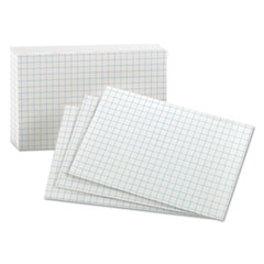 Oxford™-CARD,GRID INDEX 3X5,WHT