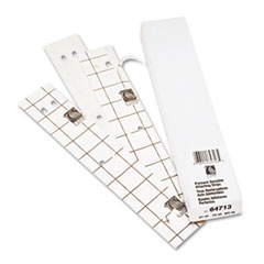 C-Line Self-Adhesive Attaching Strips, 3-Hole Punched, 11 x 1, 200/BX