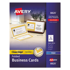 AVE 8820 Avery Premium Clean Edge Business Cards AVE8820