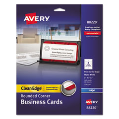 AVE 88220 Avery Premium Clean Edge Business Cards AVE88220