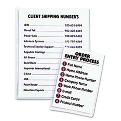 Self-Adhesive Shop Ticket Holders, 9 x 12, 50/BX
