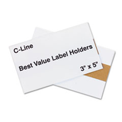 C-Line Label Holders, Top Load, 5 x 3, Clear, 50/Pack