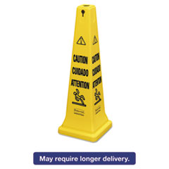 RCP 6276YEL Rubbermaid® Commercial Multilingual Safety Cone RCP6276YEL