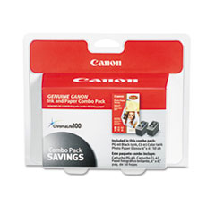 Canon 0615B009 Ink Cartridge & Glossy Photo Paper Combo Pack, 50 Glossy 4 x 6 Sheets