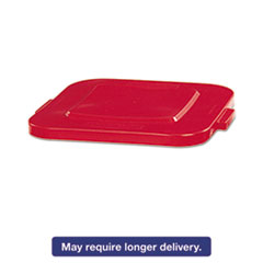 RCP 3527RED Rubbermaid Commercial Square Brute Lid RCP3527RED
