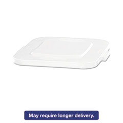 RCP 3527WHI Rubbermaid Commercial Square Brute Lid RCP3527WHI