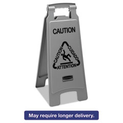 RCP 1867506CT Rubbermaid Commercial Executive 2-Sided Multi-Lingual Caution Sign RCP1867506CT