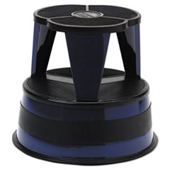 "KIK-STEP STEEL STEP STOOL, 2-STEP, 350 LB CAPACITY, 16"" DIA. X 14.25H, NAVY"