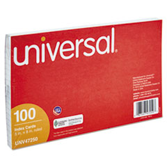 UNV 47250 Universal Recycled Index Strong 2 Pt. Stock Cards UNV47250