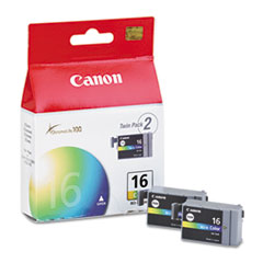 Canon BCI16 (BCI-16) Ink Tank, 75 Page-Yield, 2/Pack, Tri-Color