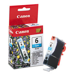 Canon BCI6C (BCI-6) Ink Tank, 370 Page-Yield, Cyan