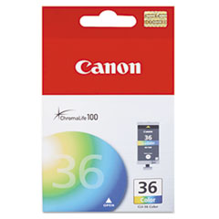 Canon CLI36 (CLI-36) Ink Tank, 100 Page-Yield, Tri-Color