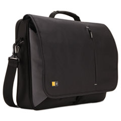 "17"" Laptop Messenger, 3 3/8 X 17 3/4 X 13 3/4, Black"
