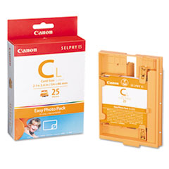 Canon EC25L Easy Photo Ink/Label Set, 25 Credit Card Size Sheets, 25 Page Yield