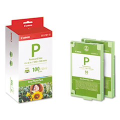 Canon EP100 (E-P100) Easy Photo Pack Ink & Paper Set, Tri-Color