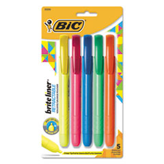 BIC BLRP51ASST BIC Brite Liner Retractable Highlighter BICBLRP51ASST