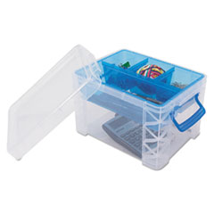 AVT 37375 Advantus Super Stacker Divided Storage Box AVT37375