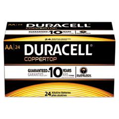 DUR MN1500B24 Duracell CopperTop Alkaline Batteries with Duralock Power Preserve Technology DURMN1500B24