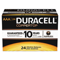DUR MN2400B24000 Duracell CopperTop Alkaline Batteries with Duralock Power Preserve Technology DURMN2400B24000