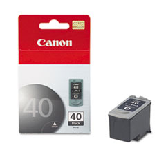 Canon PG40 (PG-40) Ink Tank, 195 Page-Yield, Black