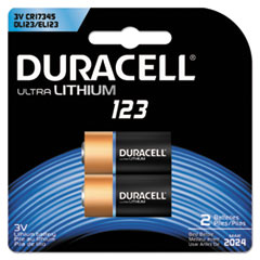DUR DL123AB2BPK Duracell Ultra High-Power Lithium Batteries DURDL123AB2BPK