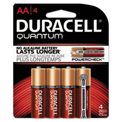 DUR QU1500B4Z Duracell Quantum Alkaline Batteries with Duralock Power Preserve Technology DURQU1500B4Z