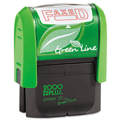 COS 035349 2000 PLUS Green Line Self-Inking Message Stamp COS035349