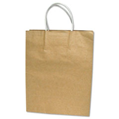 COSCO Premium Large Brown Paper Shopping Bag, 50/Box