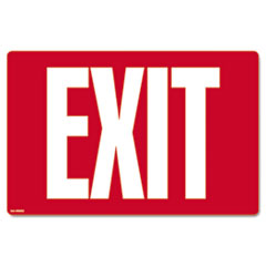 COSCO Glow-in-the-Dark Safety Sign, Exit, 12 x 8, Red