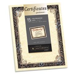 SOU 98866 Southworth Parchment Certificates SOU98866