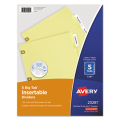 Avery®-INDEX,BNDR,LTR,5CLR/ST