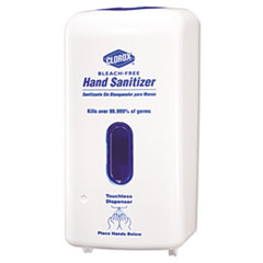 Clorox No-Touch Hand Sanitizer Dispenser, Adjustable Sensor, White, 1 Each