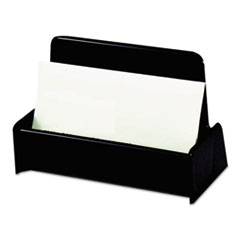 Universal® CARDHOLDER BUSINESS BK Business Card Holder, Capacity 50 3 1-2 X 2 Cards, Black