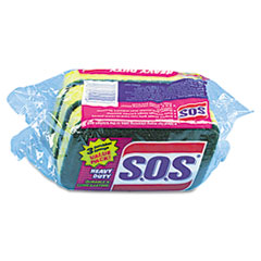 S.O.S. Heavy-Duty Scrubber Sponge, 3 x 5-1/4, 1