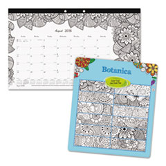 RED CA2917001 Blueline Monthly Desk Pad Calendar with Coloring Pages REDCA2917001
