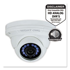 NGT CAMHDA10WDMA Night Owl Add-On HD Wired Audio-Enabled Security Dome Camera NGTCAMHDA10WDMA